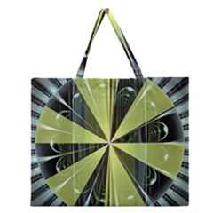 Fractal Ball Zipper Large Tote Bag by Simbadda