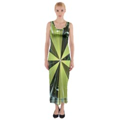 Fractal Ball Fitted Maxi Dress