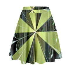 Fractal Ball High Waist Skirt by Simbadda