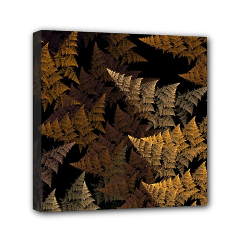 Fractal Fern Mini Canvas 6  X 6  by Simbadda