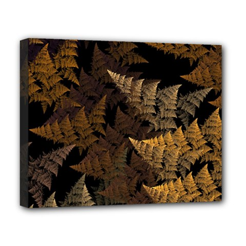 Fractal Fern Deluxe Canvas 20  X 16