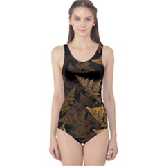 Fractal Fern One Piece Swimsuit by Simbadda