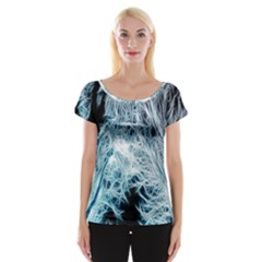 Fractal Forest Women s Cap Sleeve Top by Simbadda