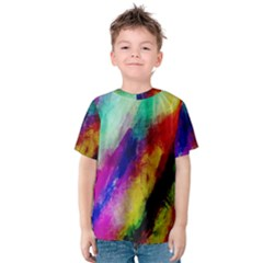 Abstract Colorful Paint Splats Kids  Cotton Tee