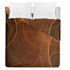 Fractal Color Lines Duvet Cover Double Side (queen Size) by Simbadda
