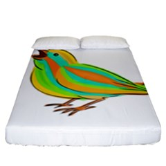 Bird Fitted Sheet (king Size) by Valentinaart