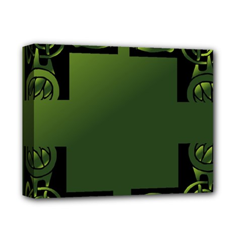 Celtic Corners Deluxe Canvas 14  X 11  by Simbadda