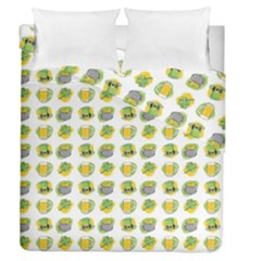 St Patrick s Day Background Symbols Duvet Cover Double Side (queen Size)
