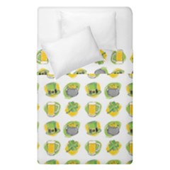 St Patrick s Day Background Symbols Duvet Cover Double Side (single Size) by Simbadda