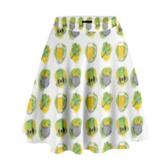 St Patrick s Day Background Symbols High Waist Skirt by Simbadda