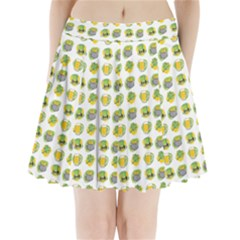 St Patrick s Day Background Symbols Pleated Mini Skirt