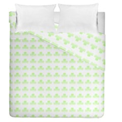 Shamrock Irish St Patrick S Day Duvet Cover Double Side (queen Size) by Simbadda