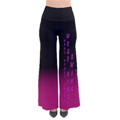 Wcs - Pink Purple Women s Chic Palazzo Pants  by LetsDanceHaveFun