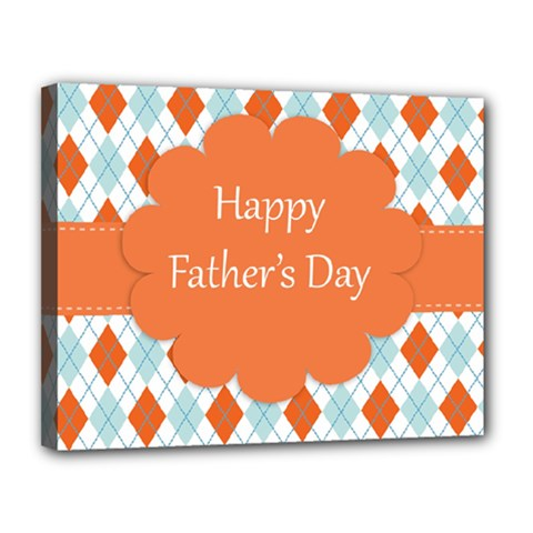 Happy Father Day  Canvas 14  X 11  by Simbadda