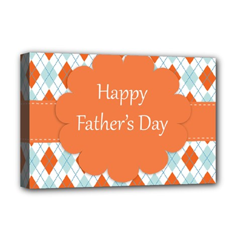 Happy Father Day  Deluxe Canvas 18  X 12   by Simbadda