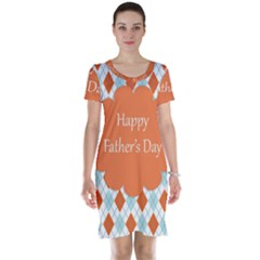 Happy Father Day  Short Sleeve Nightdress by Simbadda