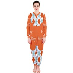 Happy Father Day  Onepiece Jumpsuit (ladies)  by Simbadda