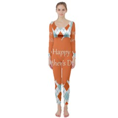 Happy Father Day  Long Sleeve Catsuit by Simbadda