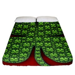 Shamrock Irish Ireland Clover Day Fitted Sheet (california King Size) by Simbadda