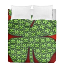 Shamrock Irish Ireland Clover Day Duvet Cover Double Side (full/ Double Size) by Simbadda