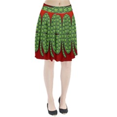 Shamrock Irish Ireland Clover Day Pleated Skirt by Simbadda