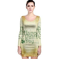 Irish St Patrick S Day Ireland Long Sleeve Bodycon Dress by Simbadda
