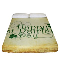 Irish St Patrick S Day Ireland Fitted Sheet (california King Size) by Simbadda