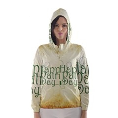 Irish St Patrick S Day Ireland Hooded Wind Breaker (women) by Simbadda