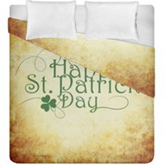 Irish St Patrick S Day Ireland Duvet Cover Double Side (king Size) by Simbadda