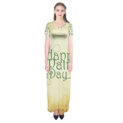 Irish St Patrick S Day Ireland Short Sleeve Maxi Dress by Simbadda
