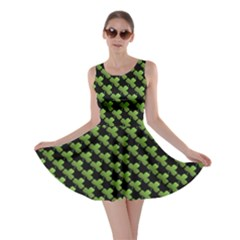 St Patrick S Day Background Skater Dress by Simbadda