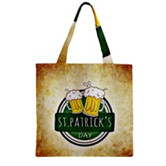 Irish St Patrick S Day Ireland Beer Zipper Grocery Tote Bag by Simbadda
