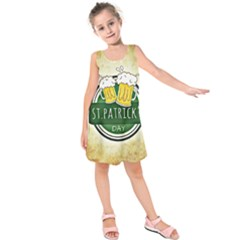 Irish St Patrick S Day Ireland Beer Kids  Sleeveless Dress