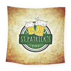 Irish St Patrick S Day Ireland Beer Square Tapestry (large) by Simbadda