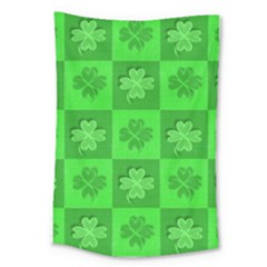 Fabric Shamrocks Clovers Large Tapestry by Simbadda