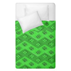 Shamrocks 3d Fabric 4 Leaf Clover Duvet Cover Double Side (single Size) by Simbadda