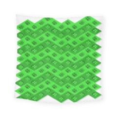 Shamrocks 3d Fabric 4 Leaf Clover Square Tapestry (small) by Simbadda