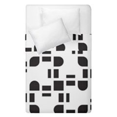 Black And White Pattern Duvet Cover Double Side (single Size) by Simbadda