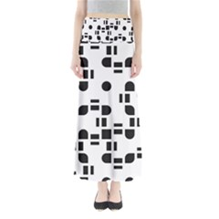 Black And White Pattern Maxi Skirts