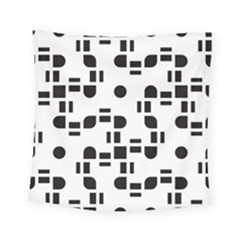 Black And White Pattern Square Tapestry (small) by Simbadda