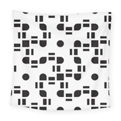 Black And White Pattern Square Tapestry (large) by Simbadda