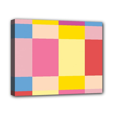 Colorful Squares Background Canvas 10  X 8  by Simbadda