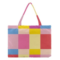 Colorful Squares Background Medium Tote Bag by Simbadda