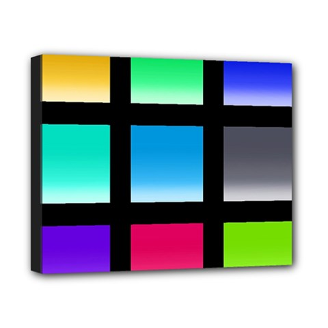 Colorful Background Squares Canvas 10  X 8  by Simbadda