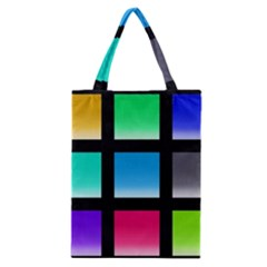 Colorful Background Squares Classic Tote Bag by Simbadda