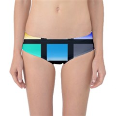Colorful Background Squares Classic Bikini Bottoms by Simbadda