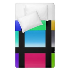 Colorful Background Squares Duvet Cover Double Side (single Size) by Simbadda
