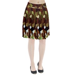 Crystallize Background Pleated Skirt