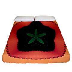Fractal Flower Fitted Sheet (California King Size)