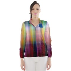 Colorful Abstract Background Wind Breaker (women) by Simbadda